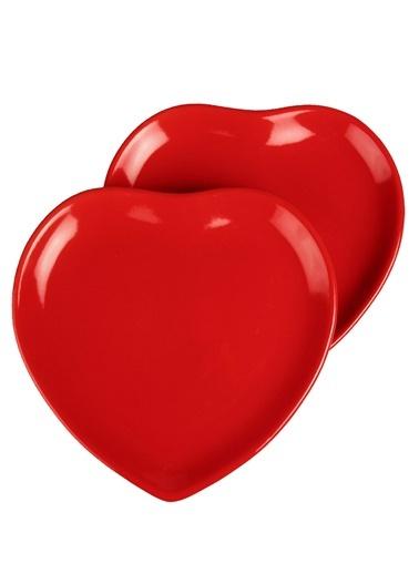 2 Li Şeker Peker Kalp Servis Tabağı-Joy Glass